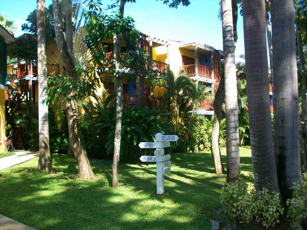 The grounds of Beaches Negril.