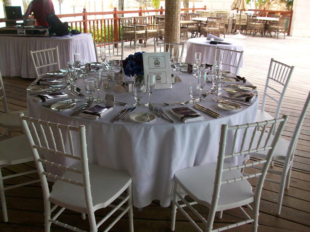 Resort tables with their own flair.