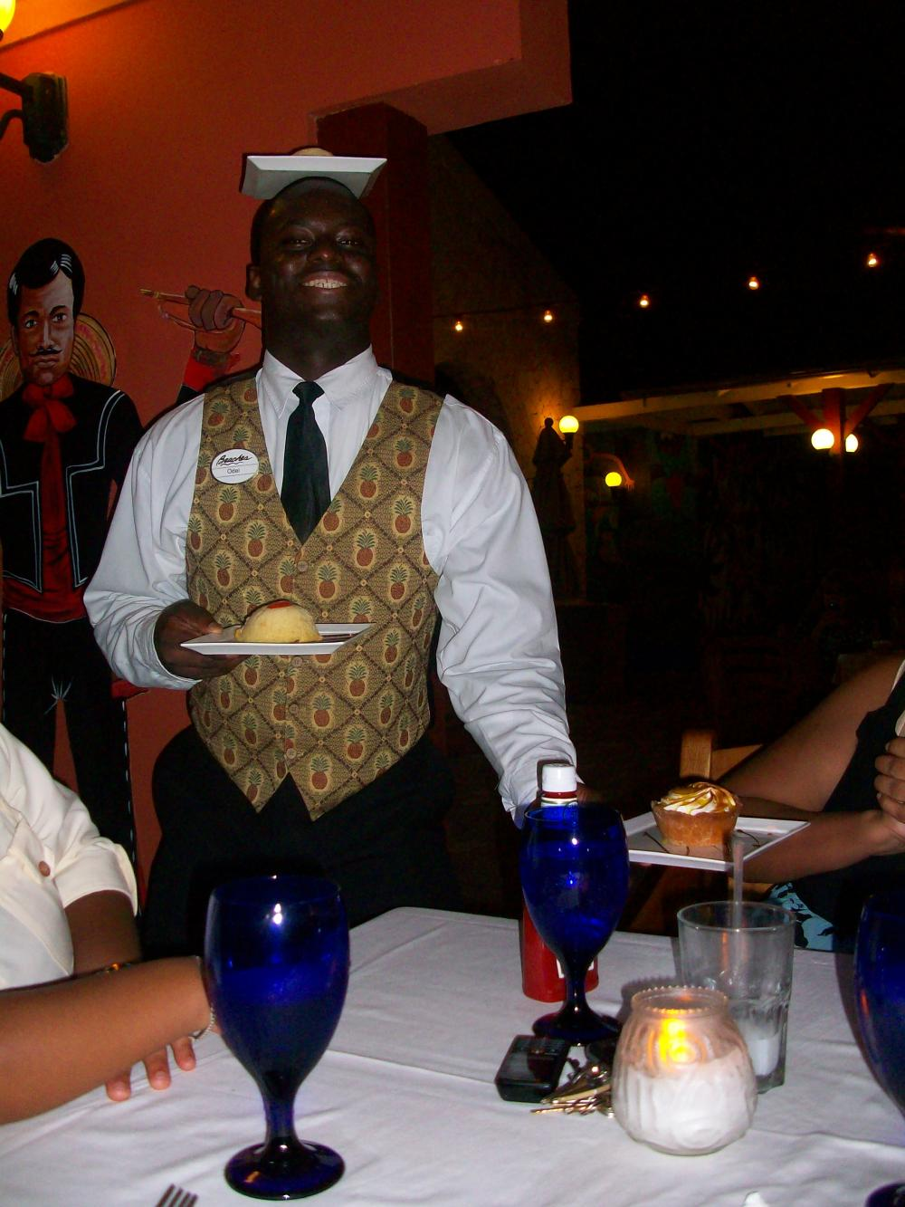 The waiter at Arizona's was a lot of fun. The food was good, too!