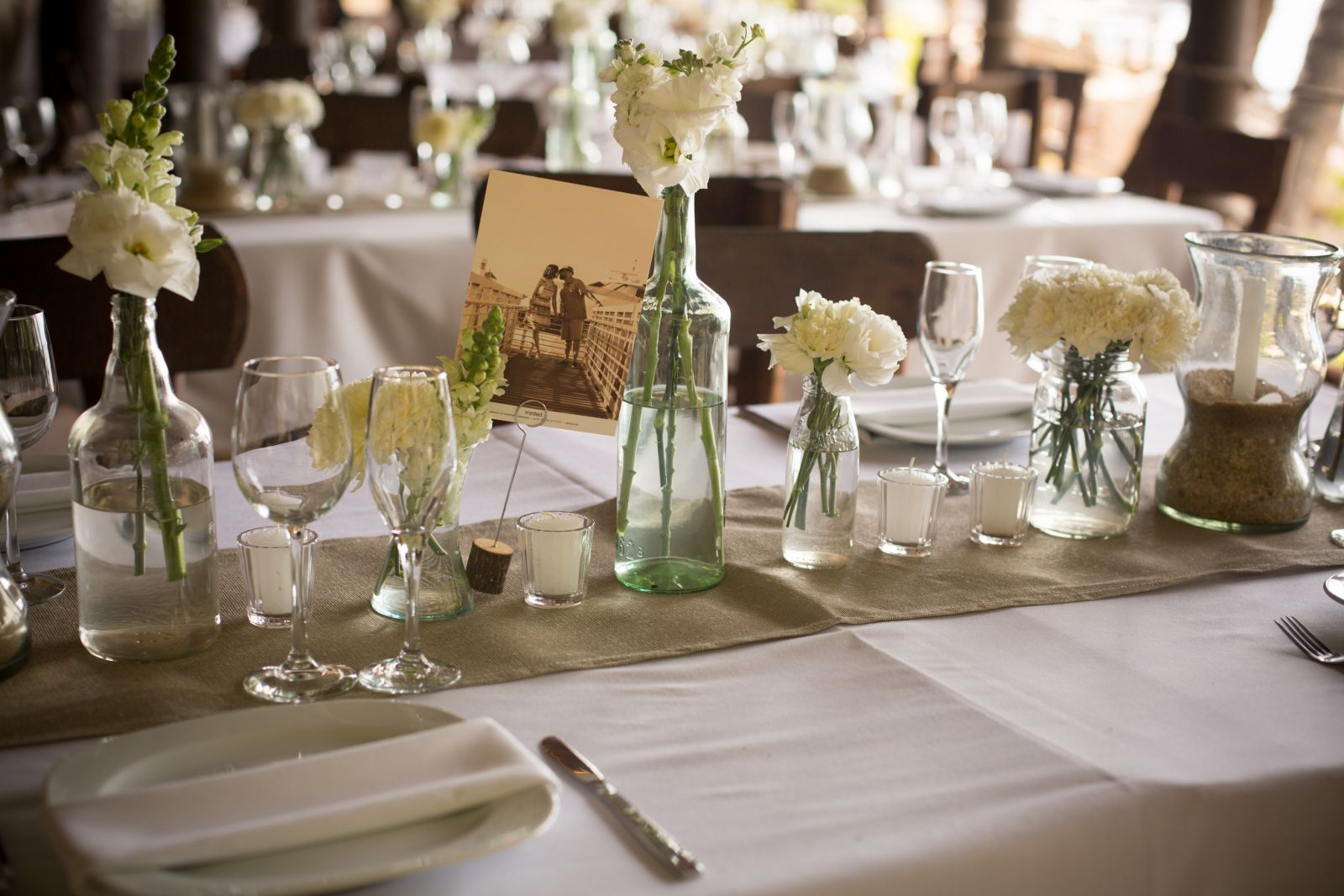 Vintage reception decoration