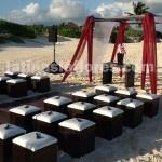 furniture rental for beach ceremonies
