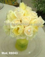 ivory roses and ivory tulips with white lisianthus bouquet