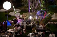 Wedding At Puerto Vallarta Lounge Furnichures, Air stars, Triboli lights for the palm trees, Audio, and Video