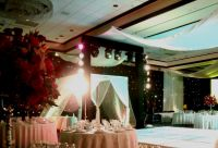 Indian Wedding From Mitika Pattma at the Hilton Hotel Cancun, Led Ligthing, Robotic Ligths, Trusses cover with Black Likra, and Black Courtains with leds DJ MC and Iluminated dance flor