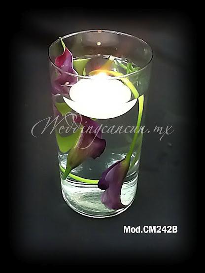 purple calla lilies wedding centerpiece