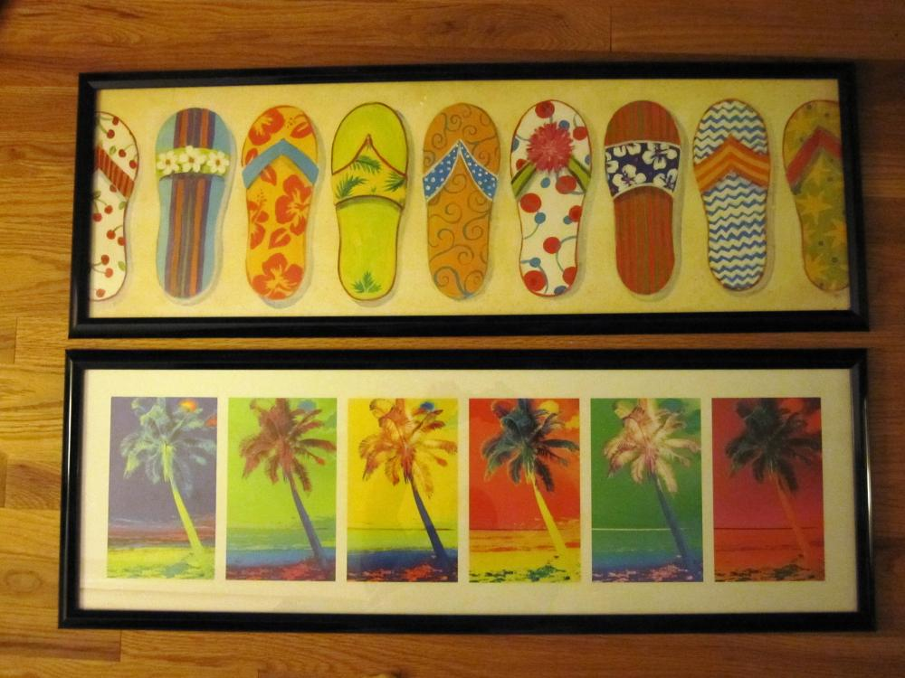 (2) Framed Tropical Posters