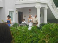 * leaving our villa and walking right now the aisle! SO cool!