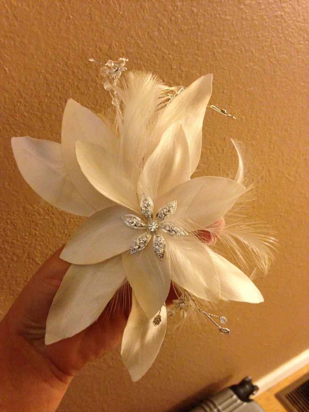 Trash the Dress Wedding Dress & Hairpiece