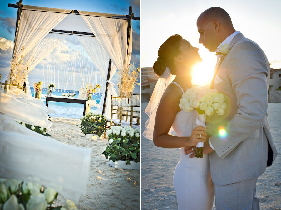 Beach Wedding Le Blanc Photos In Cancun