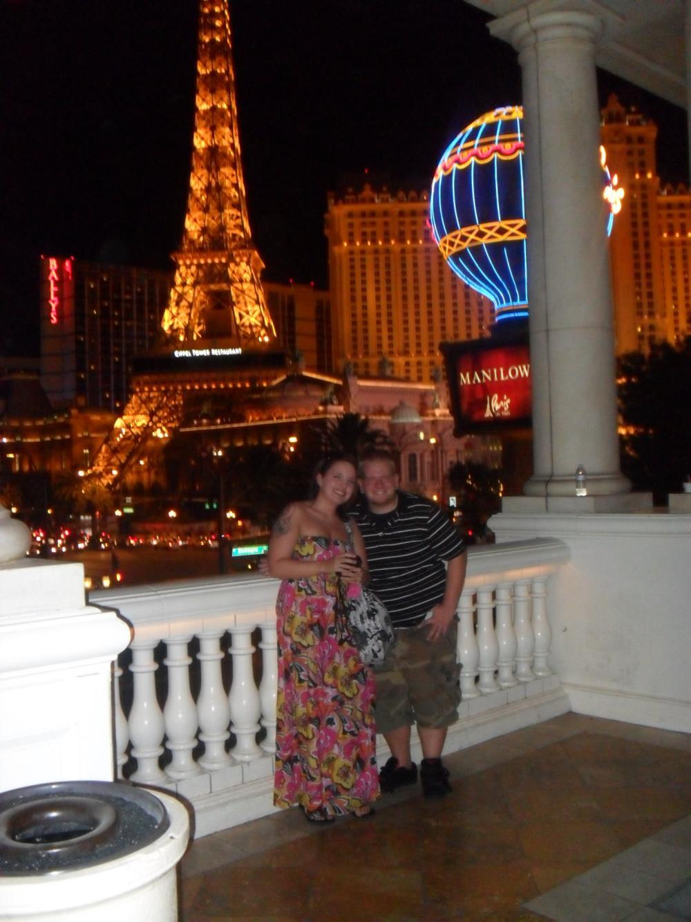 We were in Las Vegas, in front of Paris! <3