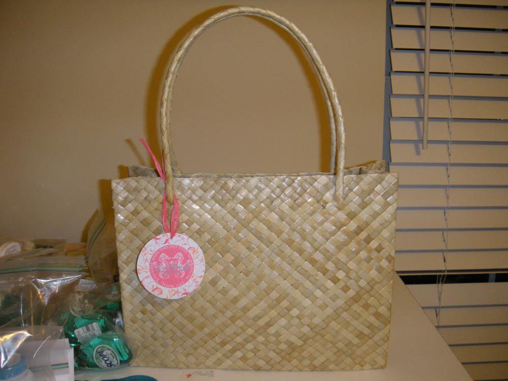 Brand New Handmade Palm Leaf Tote OOT Bags