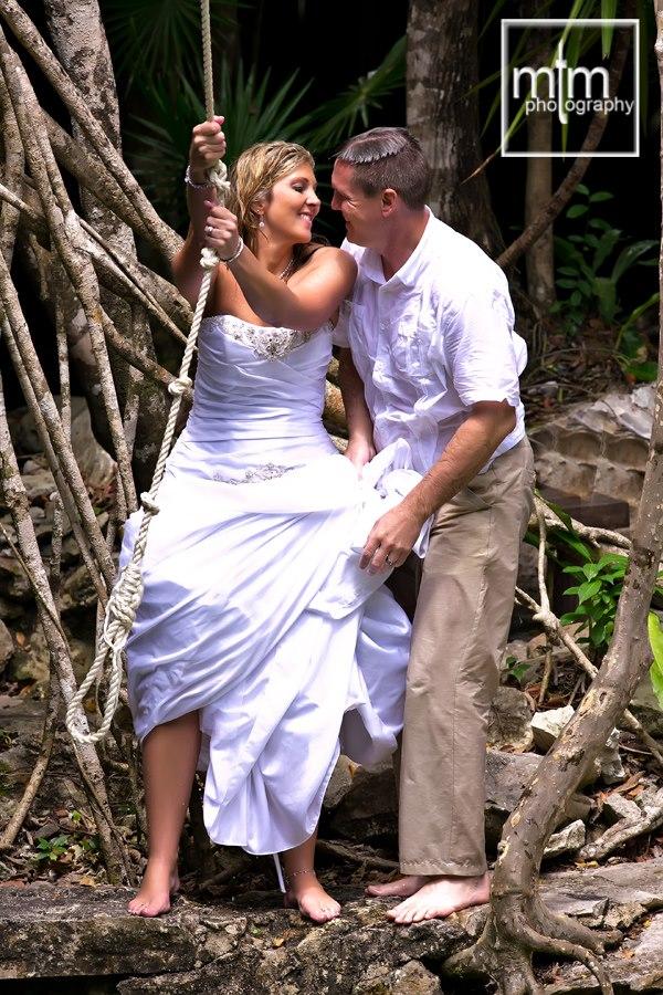 * Groom sending of swinging bride