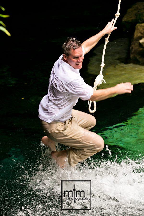 * Splashing down - weeeee!