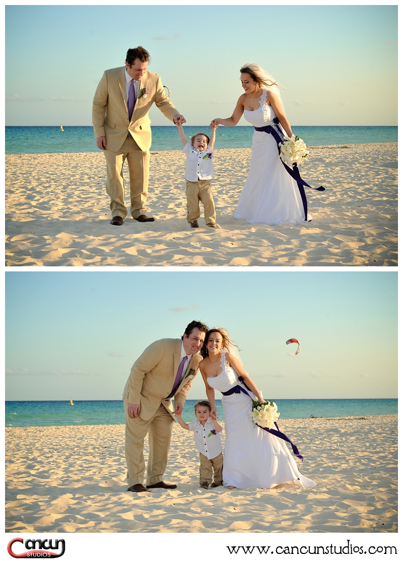 Sandos Playacar Destination Wedding photography by Cancun Studios
