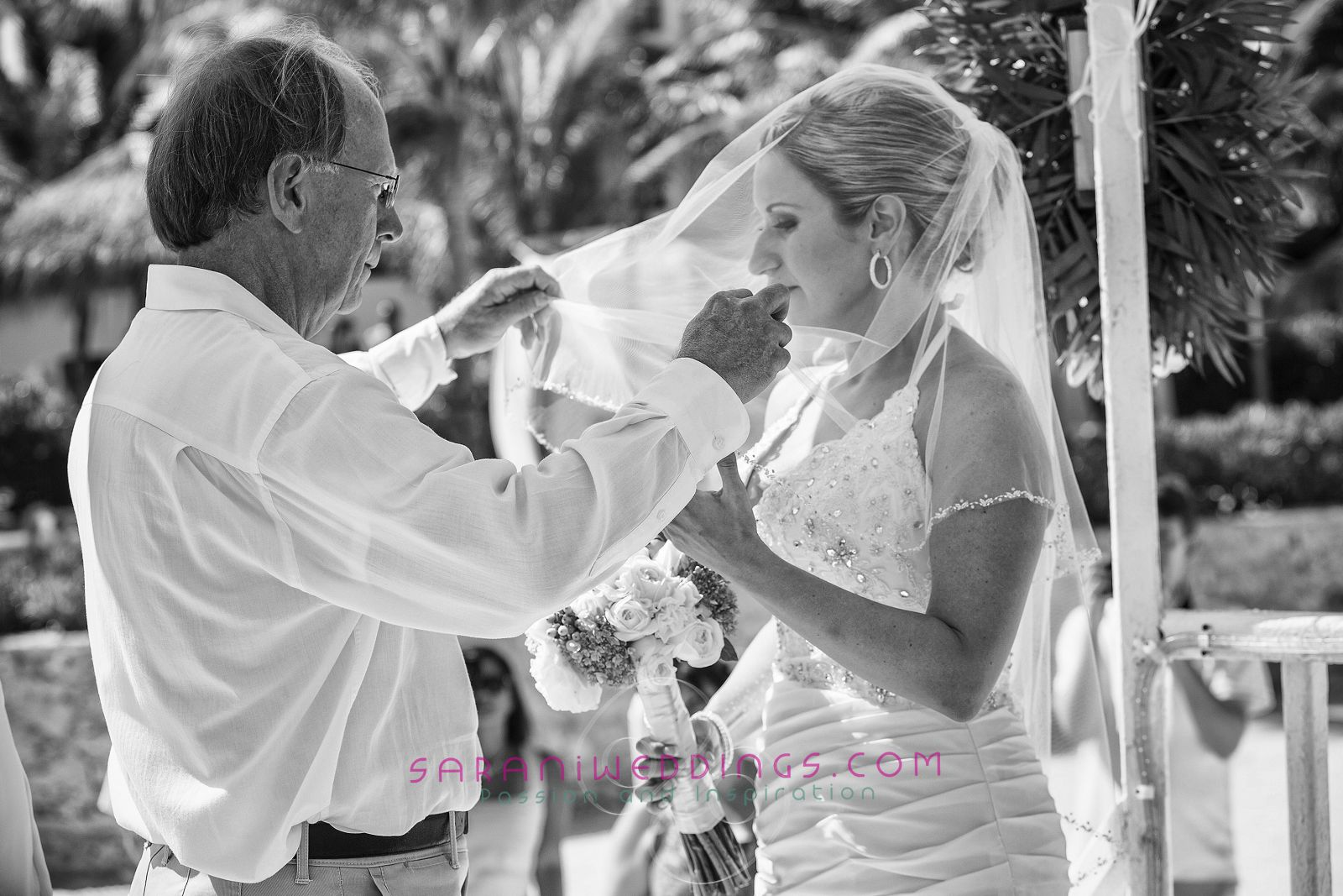 Beach destination wedding at Mayan Riviera, Mexico