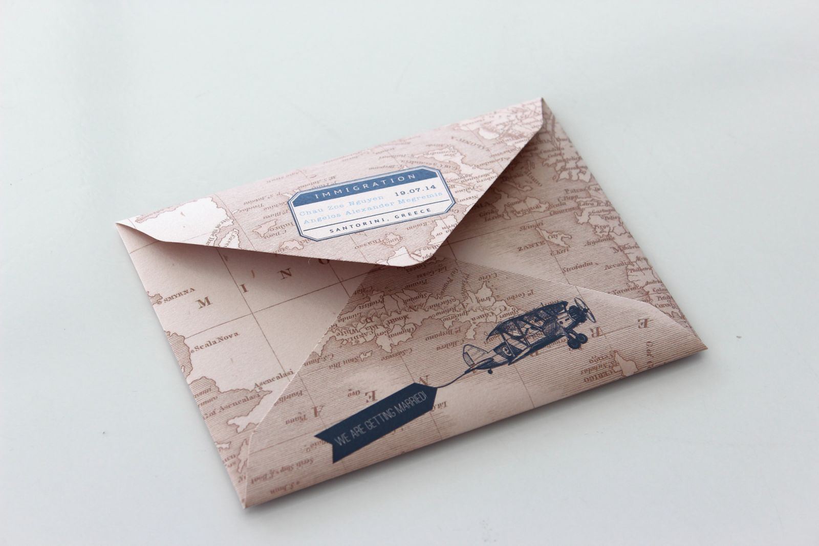 My passport invitation - designed and printed by Secret Diary Wedding Invitation - South Africa