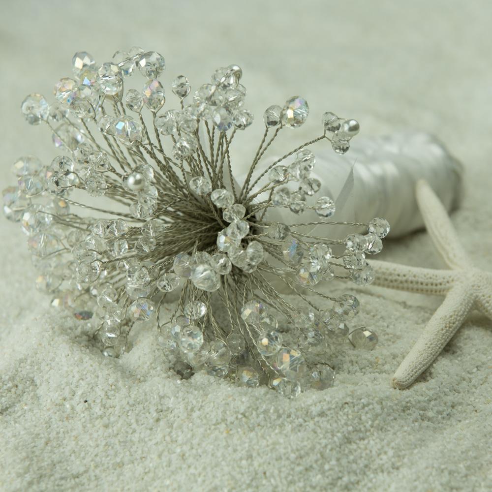 $112 Crystal Wedding Bouquet