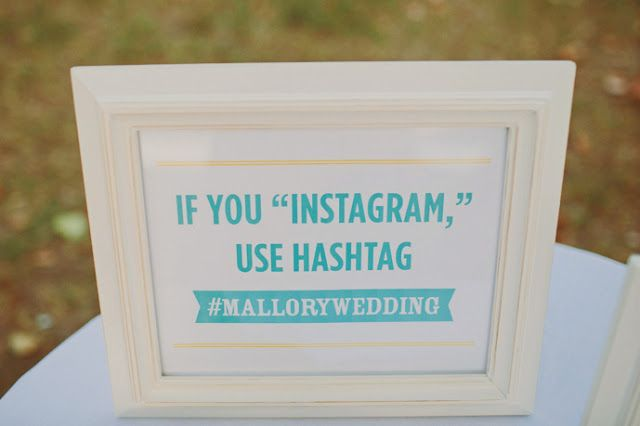 How to Hashtag your wedding?