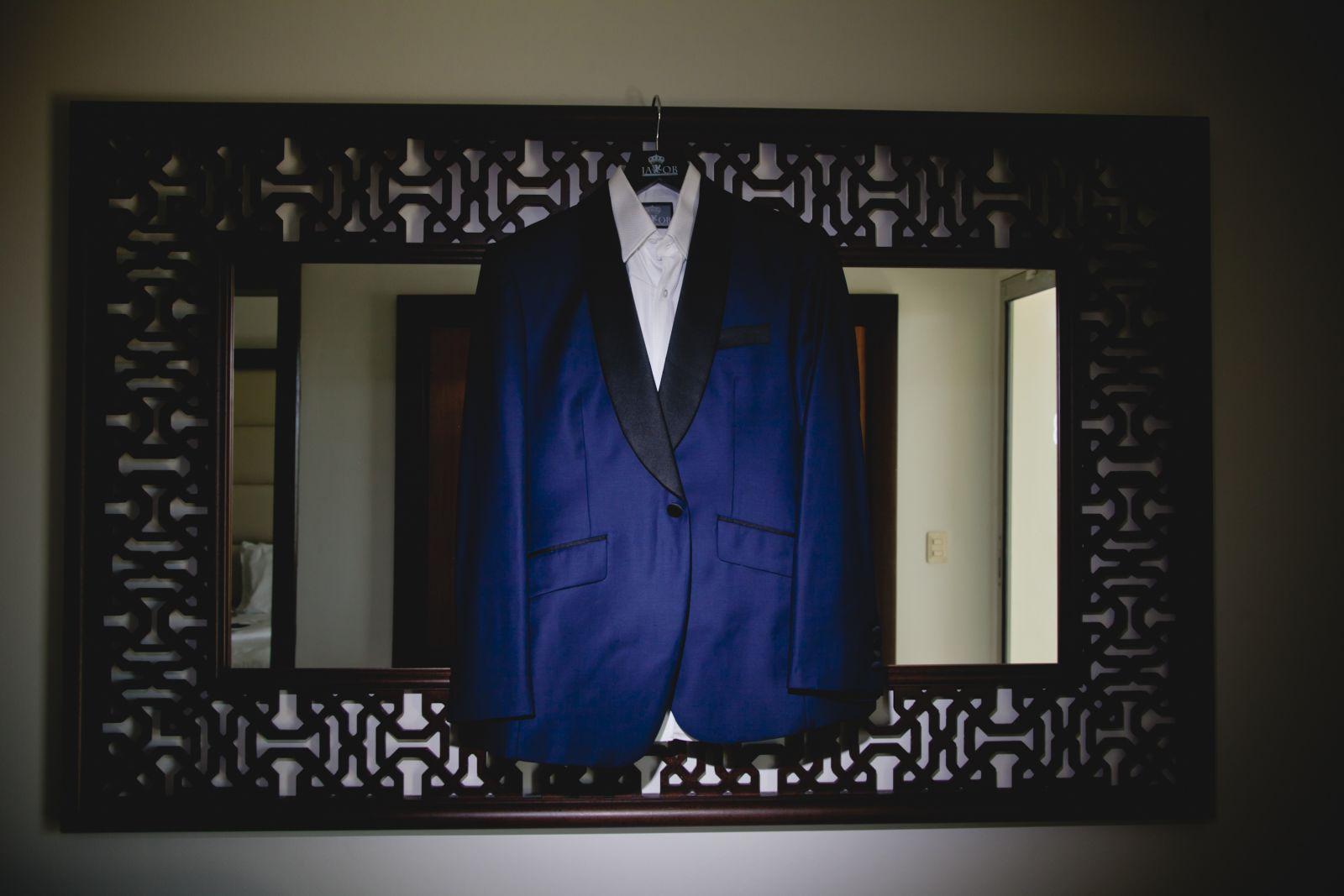 "My husband's ""James Bond"" JaKob's Custom Clothiers suit"