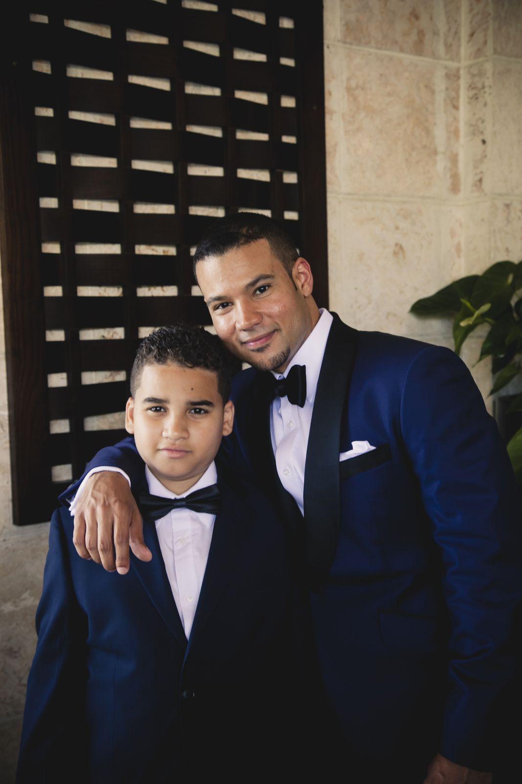 The groom and junior groomsmen
