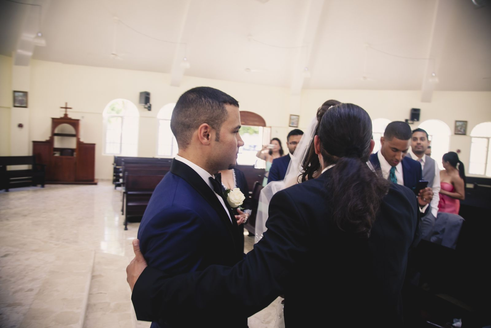 My godfather giving me away- my dad did not come to my wedding