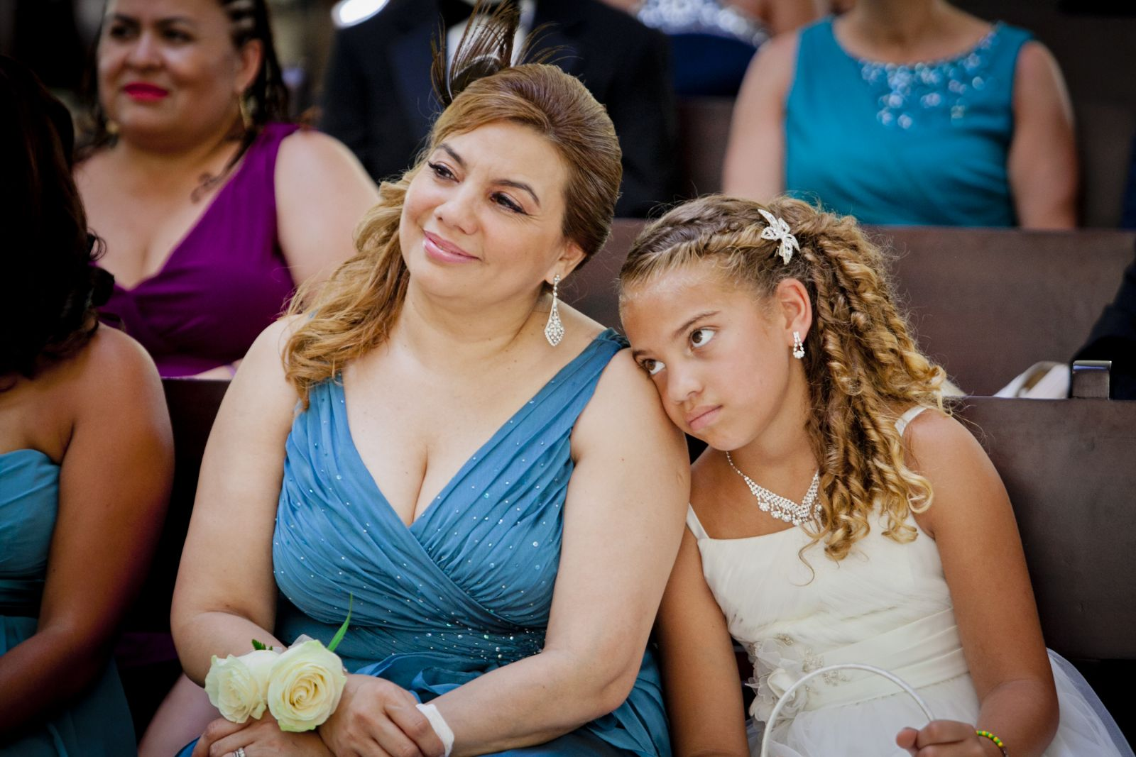 My proud mom and my bored niece hahaha