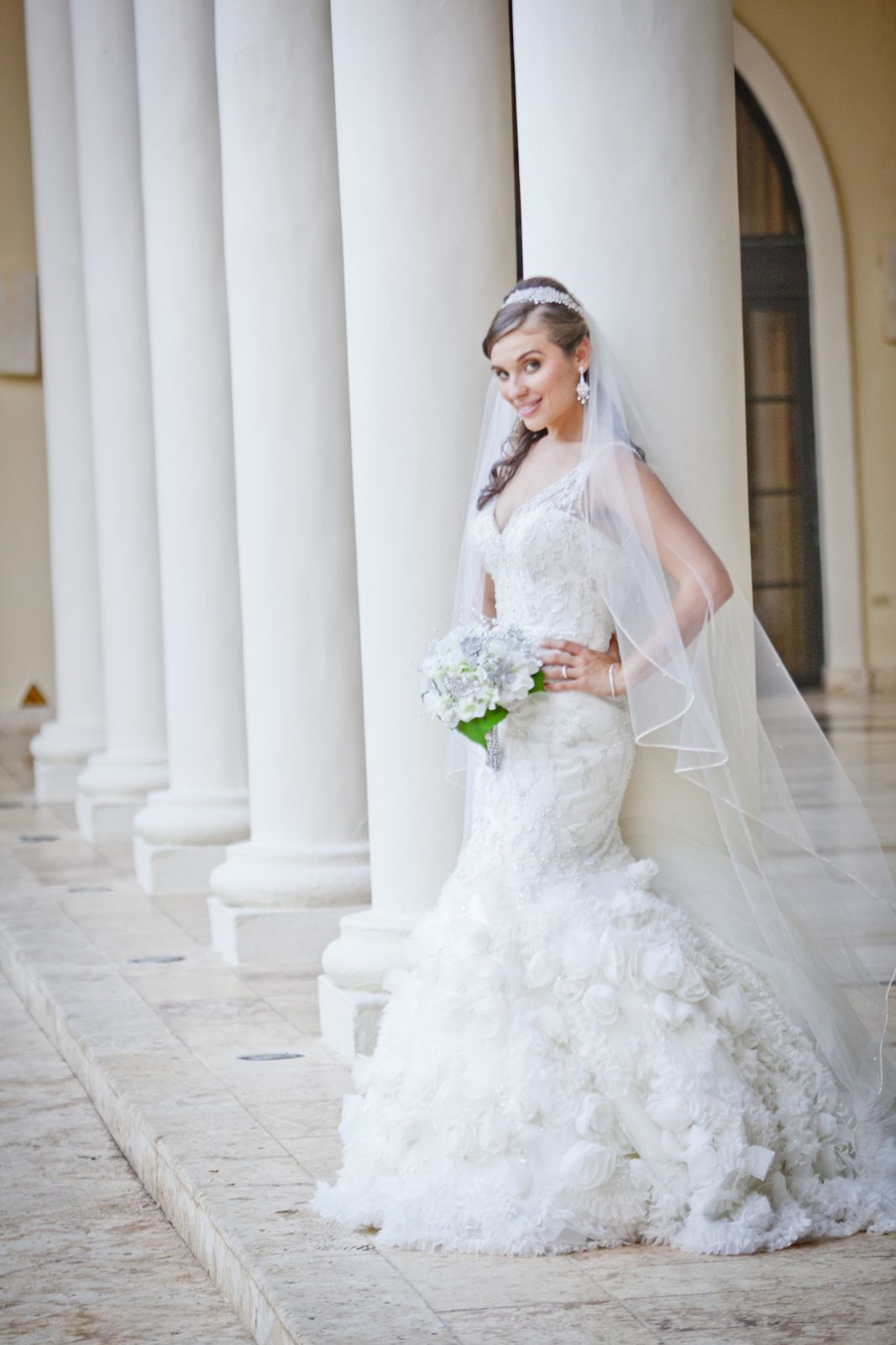 My requisite bride shot- this is the one I will send to my bridal shop where I got my dress.