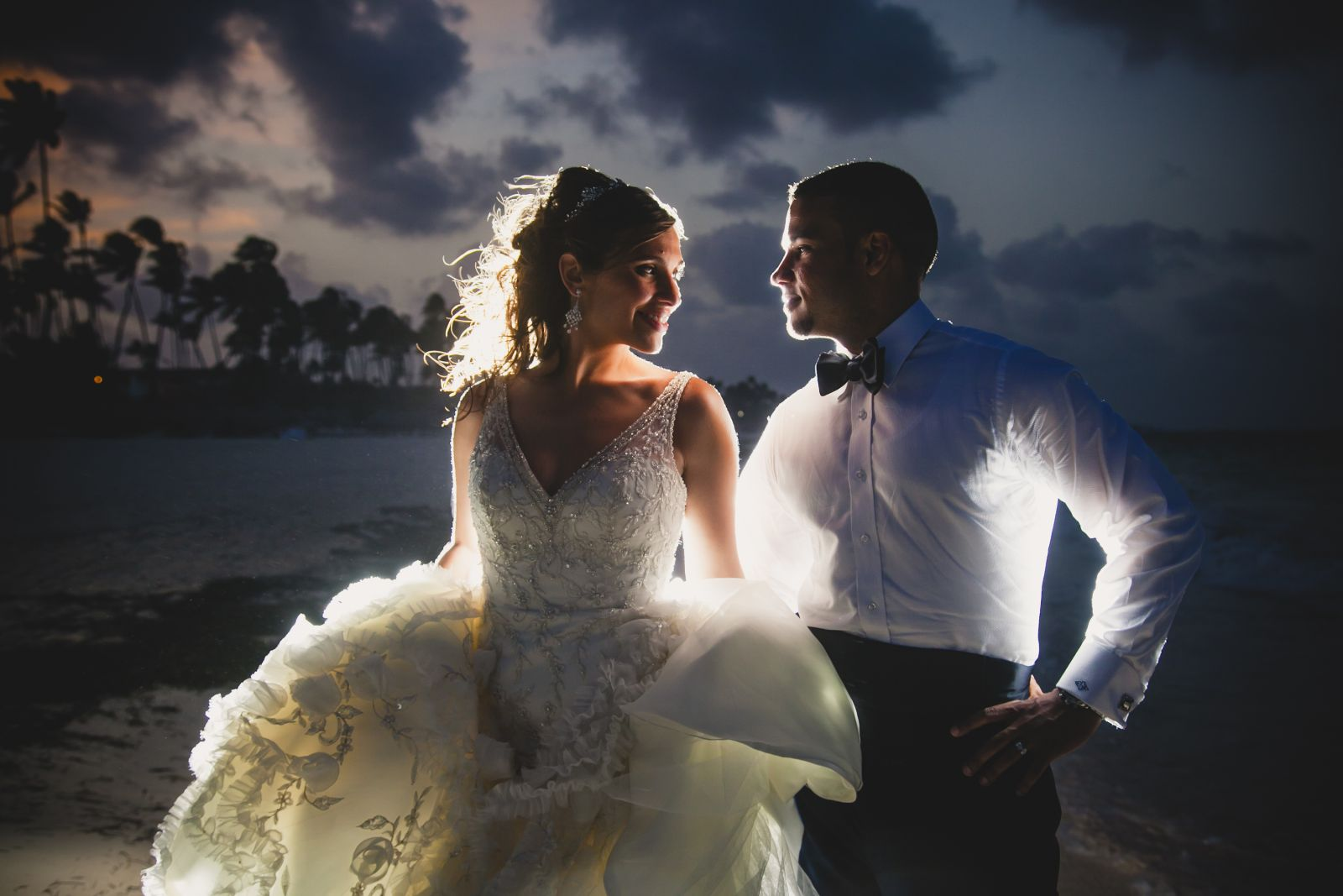 All aglow with love- one of my favorite wedding pictures