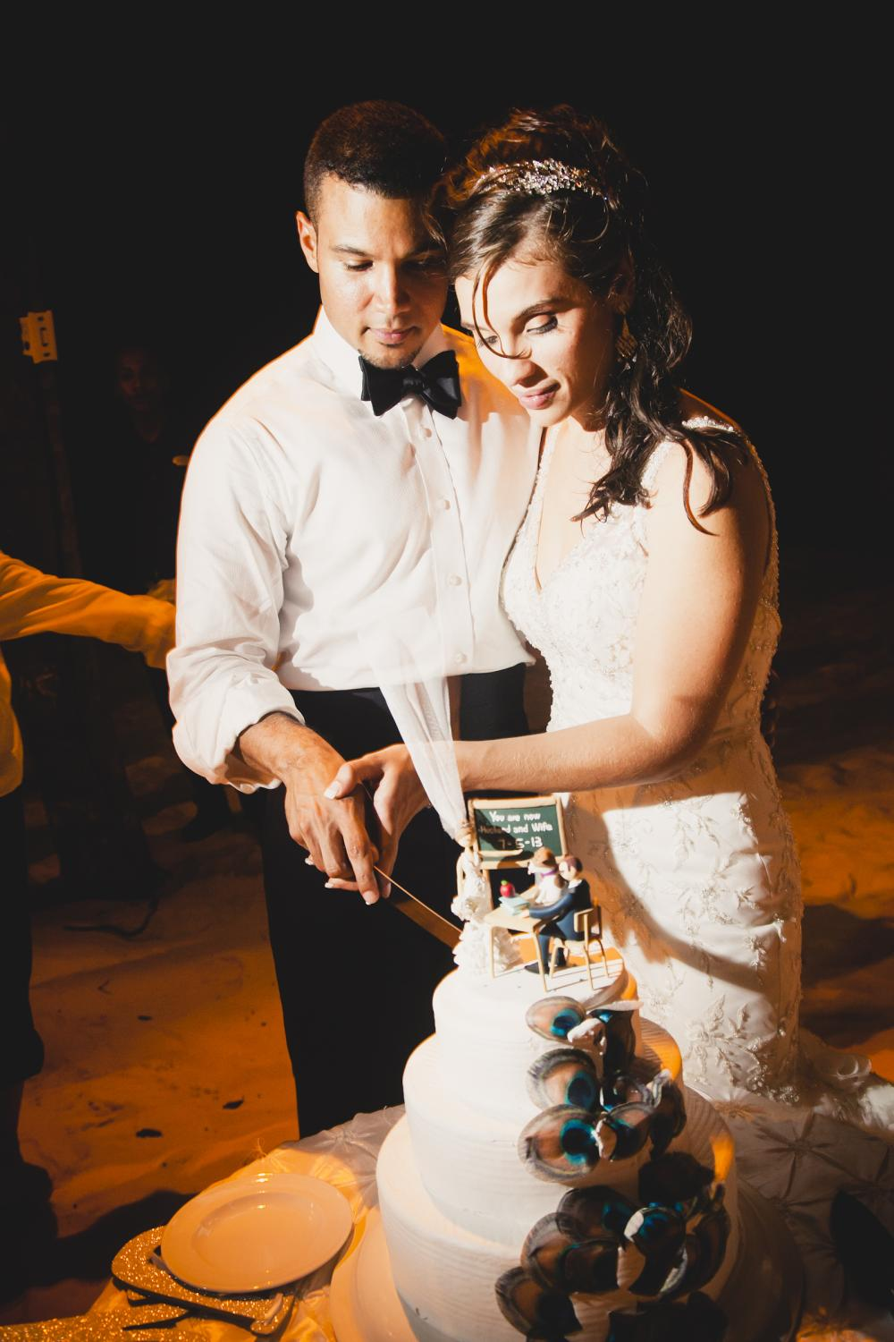 Cutting our cake