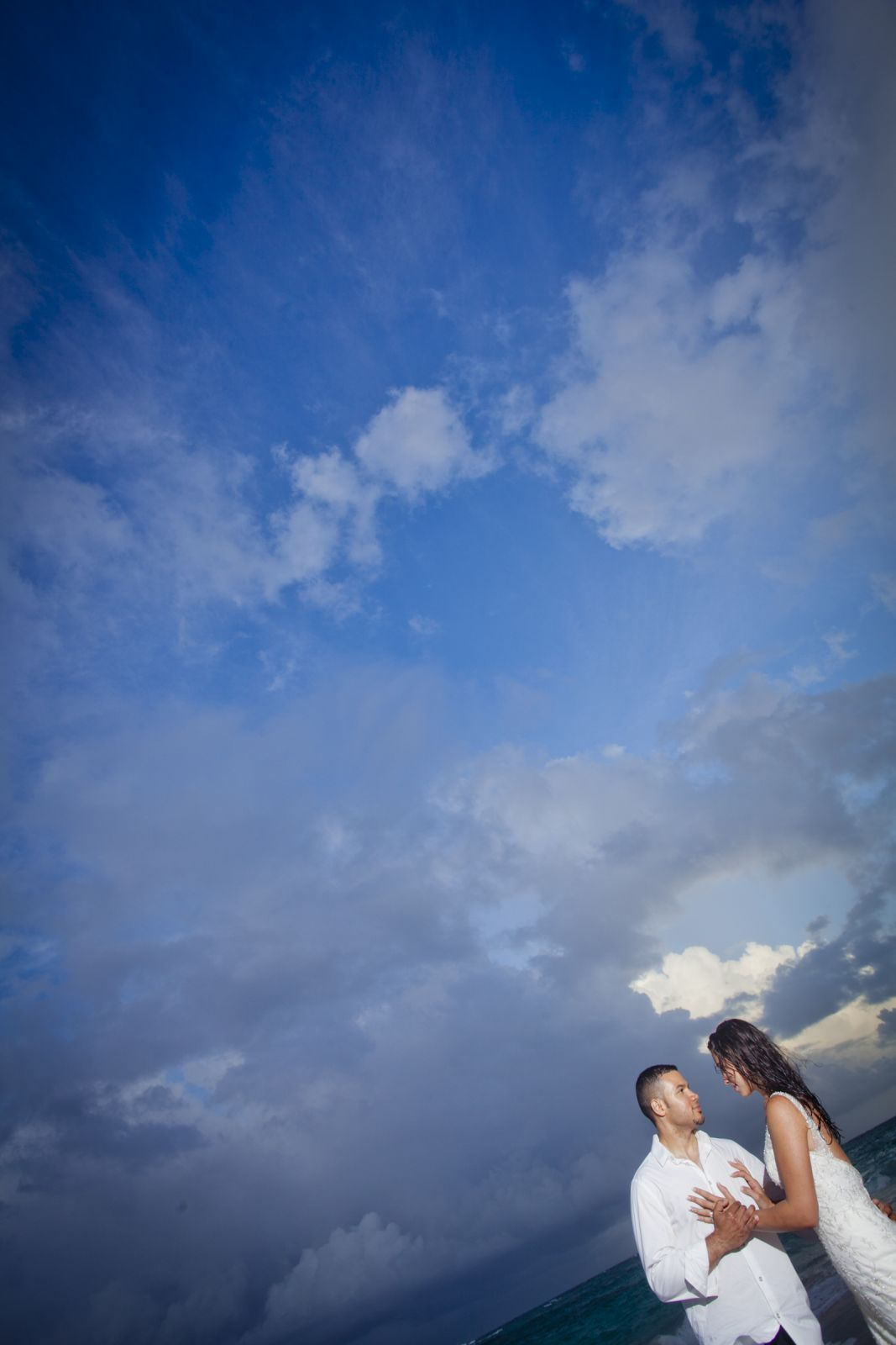 Nothing but blue skies- it rained as soon as we took our last shot but you would never know