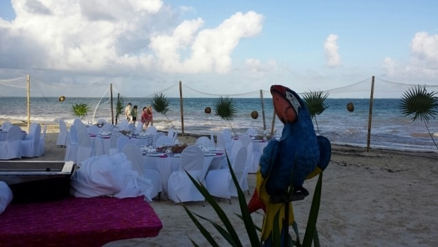 Beach BBQ/ welcome party setup