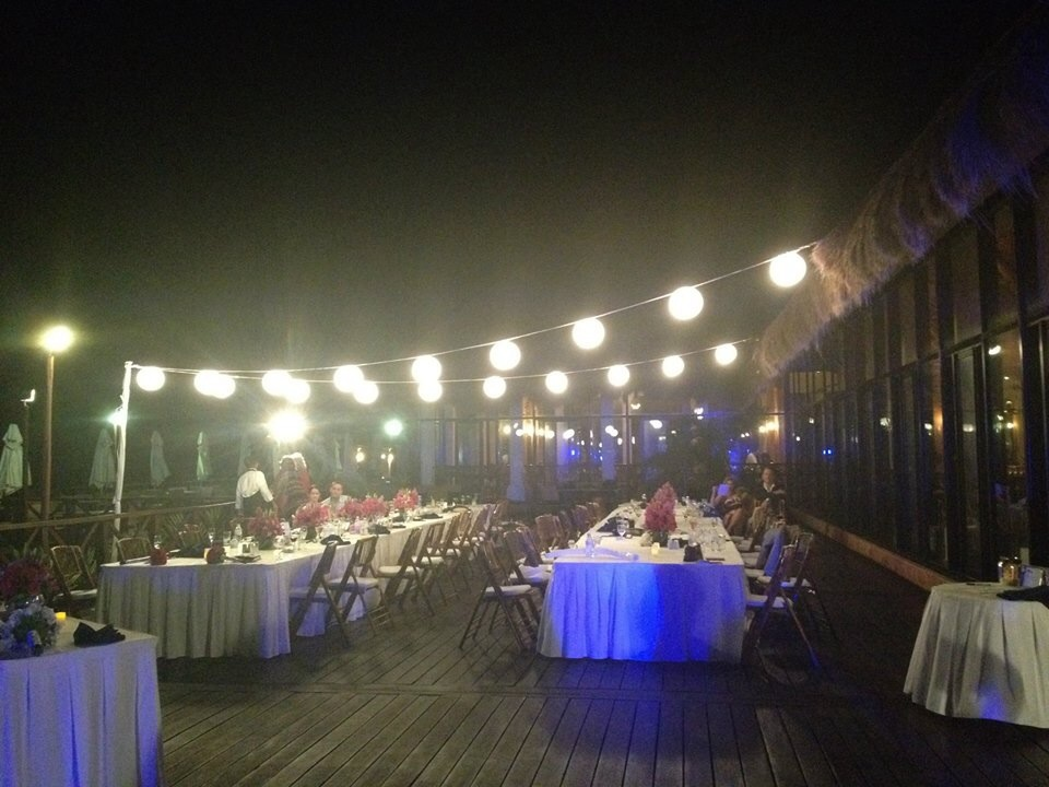 Reception on tequila terrace