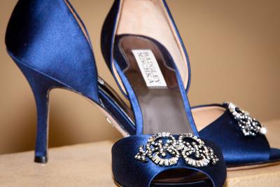 Badgley Mischka  Blue heels Size 8.5