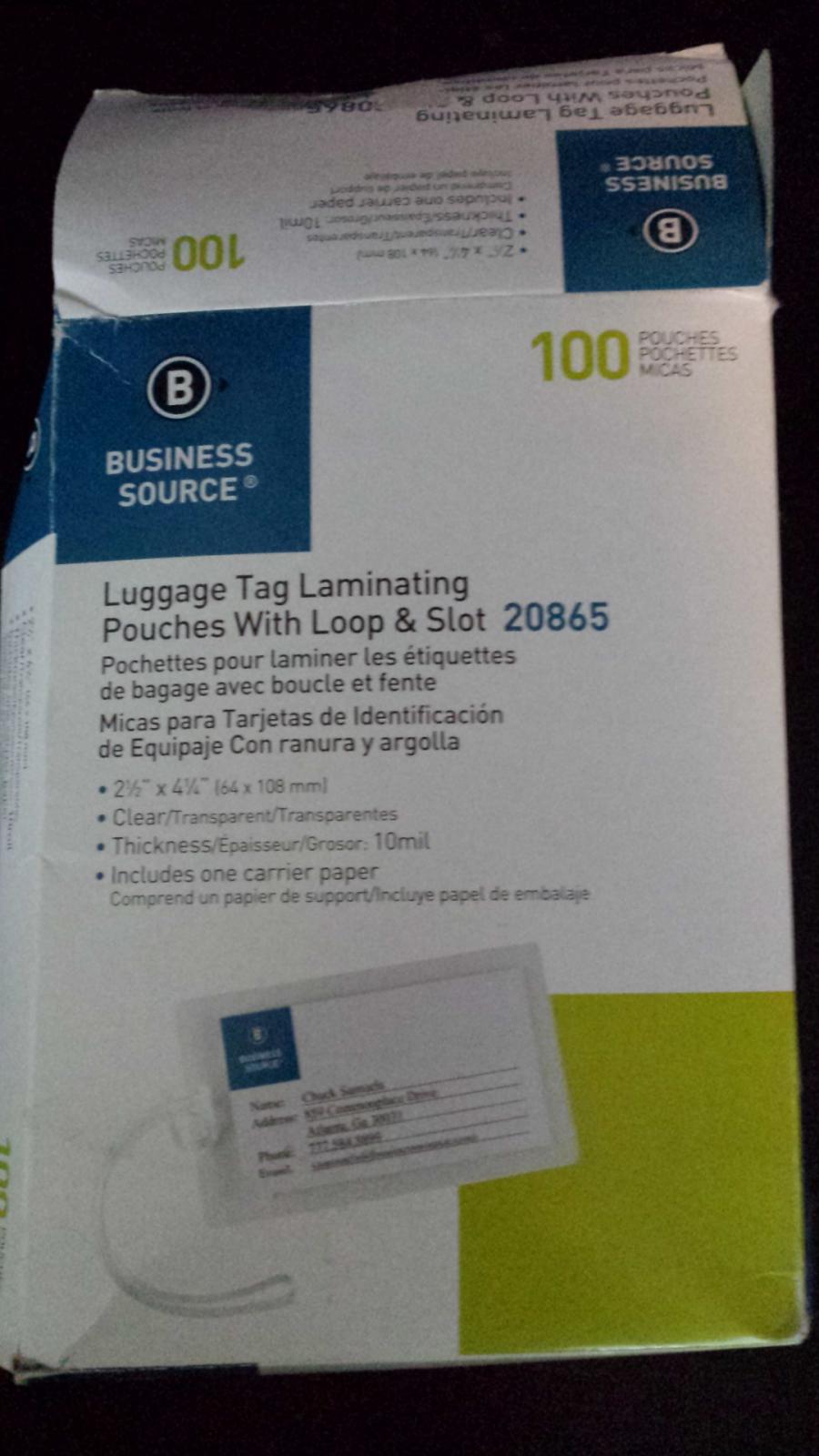 unused clear plastic luggage tag holders
