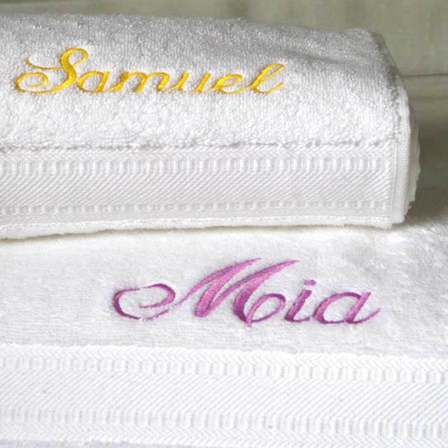 Publicized your Product with MONOGRAMMED TOWEL