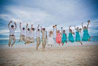 Classic beach wedding shot