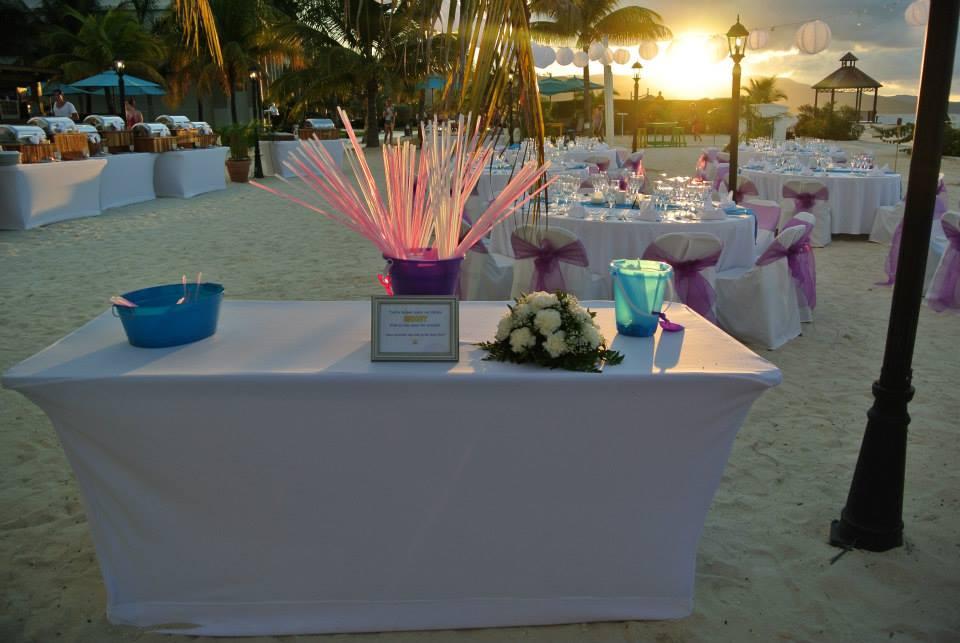 glow stick table