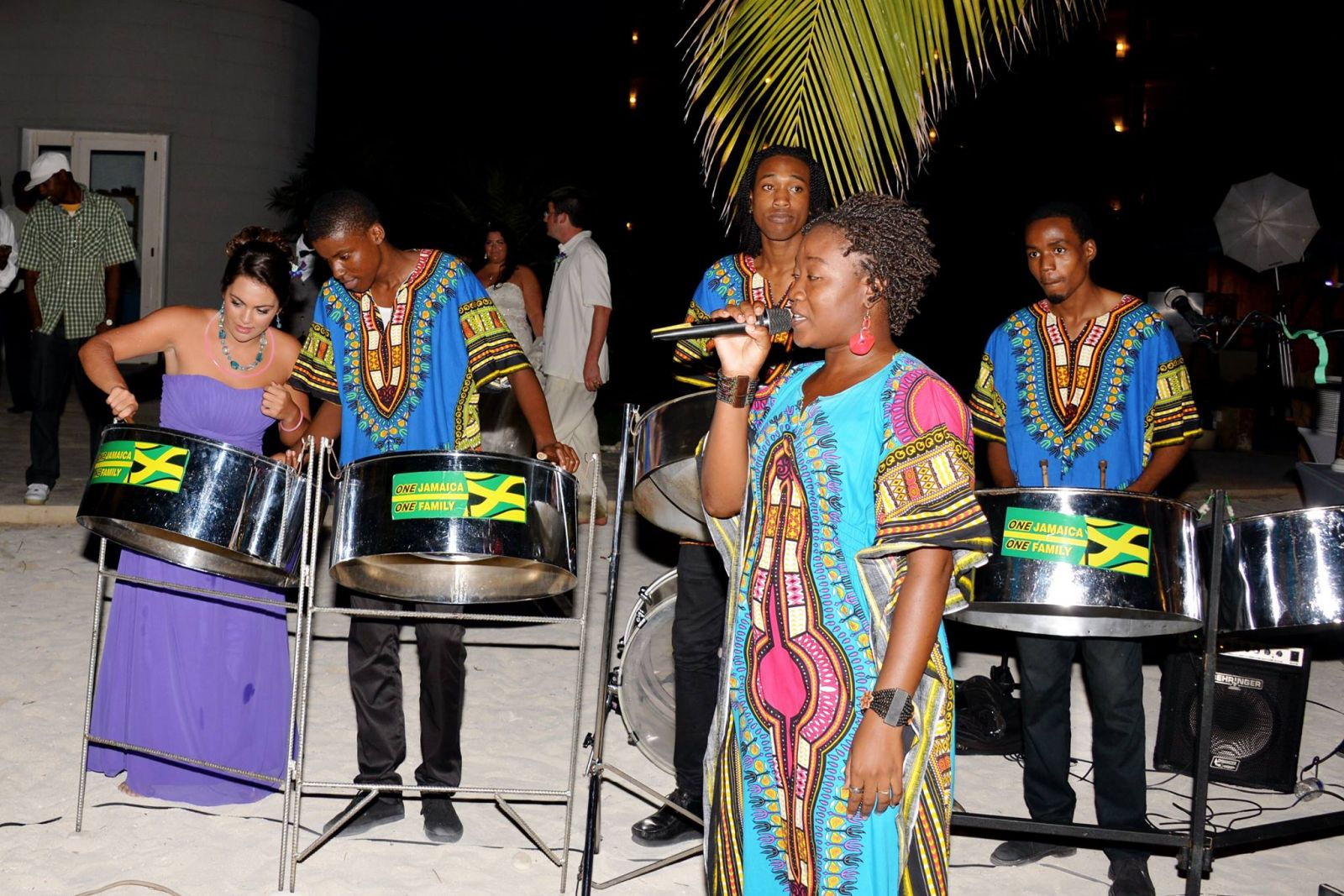 my sister playing with the steel drum band