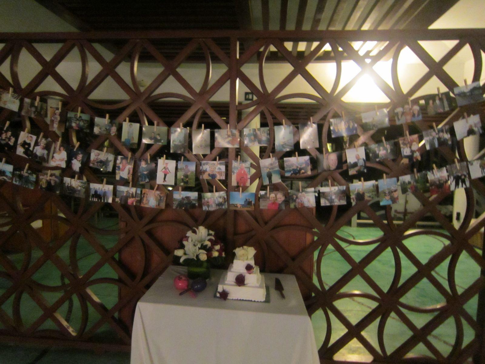 Photo display in Castaways Restaurant