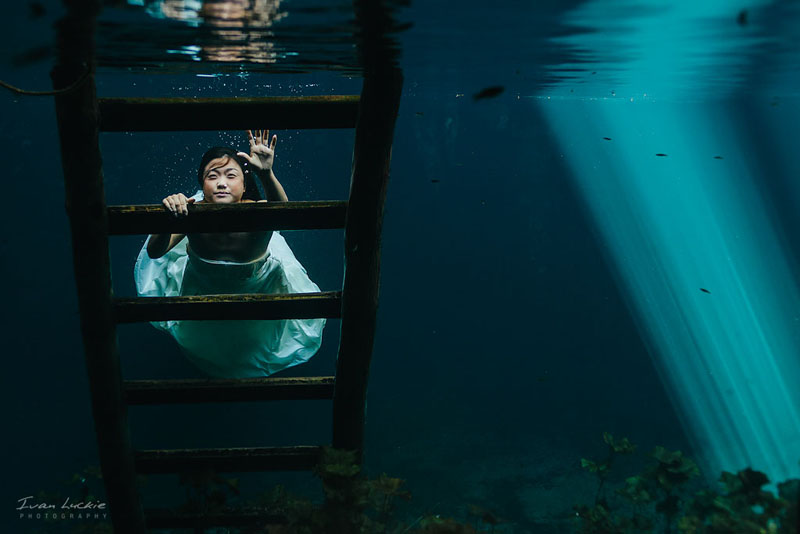 Judy Victor  Azul Fives Ans Cenote Trash The dress   LuckiePhotography 1