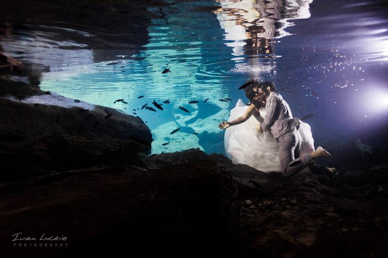 Julian Paul   Cenote Trash The dress   Ivan Luckie Photography