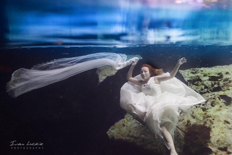 Cenote Trash The dress photographer   Carmen & Ivan  Ivan Luckie Photography