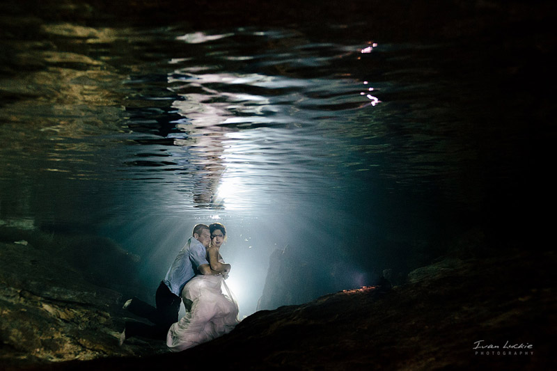 Denise Bert    Underwater Cenote Trash The Dress Photographer   Ivan Luckie Photography 1