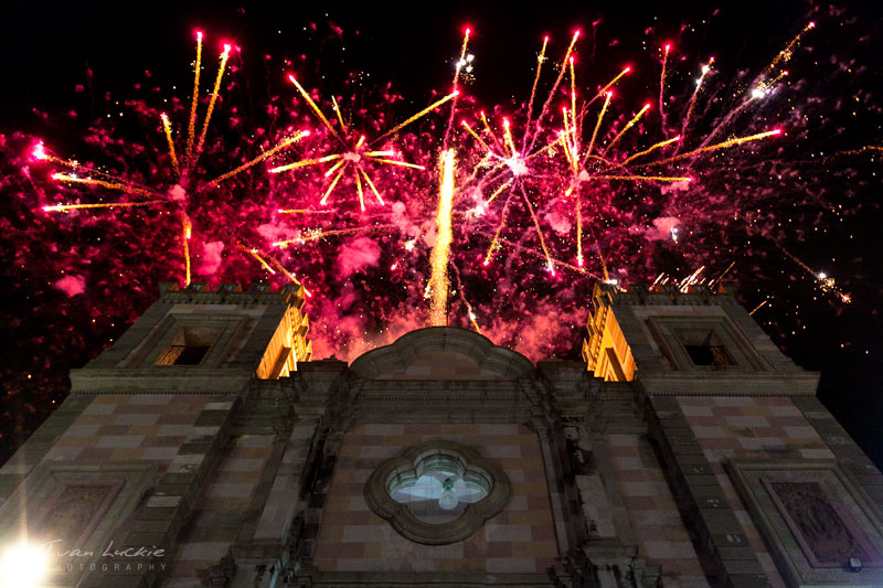catholic church And fireworks   Luckie Photography