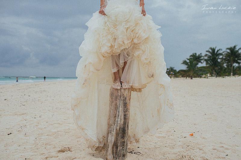 wedding dress On A beach trash The dress   Ivan Luckie Photography 1