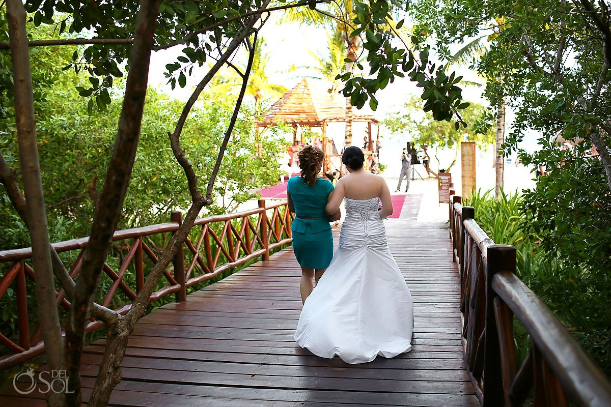 The walk to the gazebo ceremony