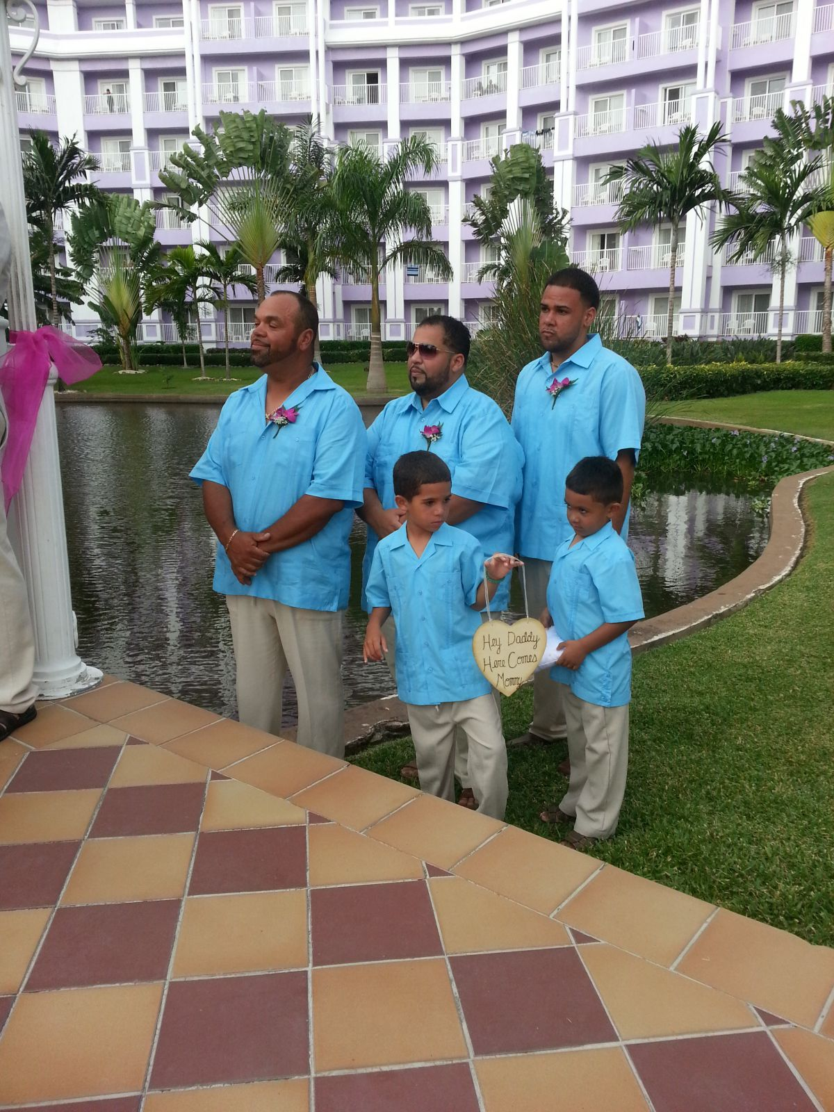 Best Men, the ring bearer and my boys