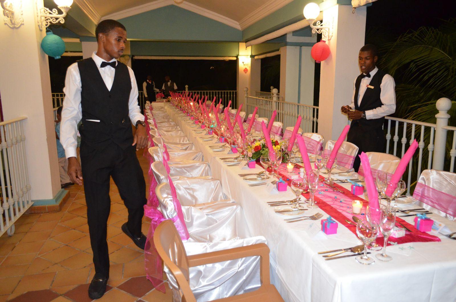2nd floor of plantation restaurant - set up