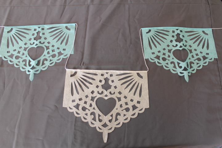 Hand cut Papel Picado