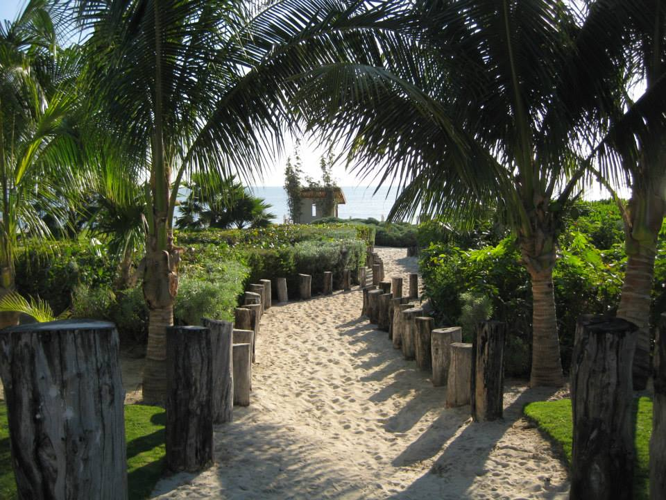 The walkway down to Caribbean beach. Private and beautiful!